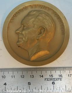 Bronze Medallion: President Lyndon Baines Johnson