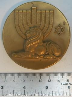 Bronze Medallion: Israel