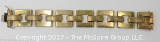 """14k yellow gold 8"""" bracelet; stamped Italy; 44g- #1176"""