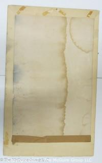 """Large format engraving of George Washington circa 1800; labeled """"French print""""; unframed, trimmed to ~12.5"""" x 19.5"""""""