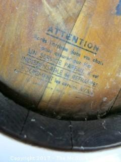 """French Whisky Barrel and tap 14 1/2"""" tall"""