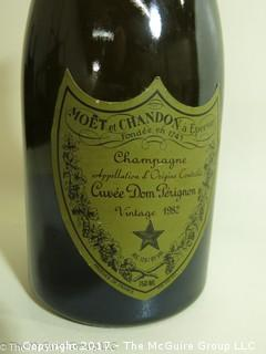 "1982 Dom Perignon:  According to the Wine Spectator; WS93 ""Seductive and wonderfully balanced, crisp yet it caresses the palate. Has a very complex toasted bread and buttery croissant character along with some nutmeg, spice, chocolate and vanilla notes. At its peak, so drink and enjoy.--Dom Pérignon"""