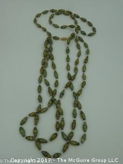 Multi-strand beaded necklace - #1298