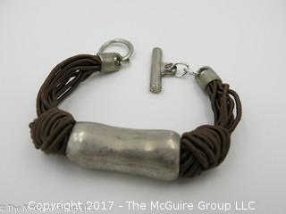 Sterling and rope bracelet -#1306
