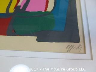 "Karel Appel signed and numbered (58/75) framed lithograph (Image size: 21 x 26"")"