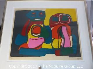 "Karel Appel signed and numbered (58/75) framed lithograph (Image size: 21 x 26"")"