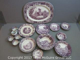 23 pieces of English Woods Burslem Bone China