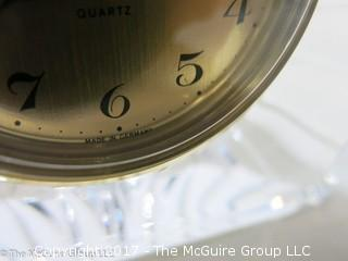 Staiger German desk clock set in French crystal