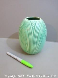 "Spode ""Royal Jade"" ceramic vase; England"