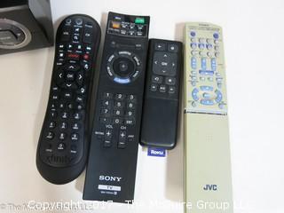 Panasonic VHS player; AIWA  MP3 player and various remotes