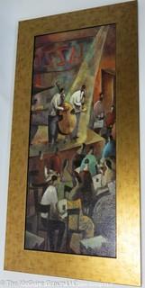 """""""Jazz Club"""" (18 1/2 x 36 1/2"""")"""