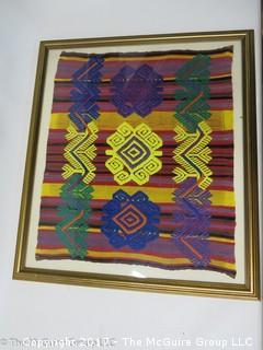 """Framed Textile Art (20 x 23"""")"""