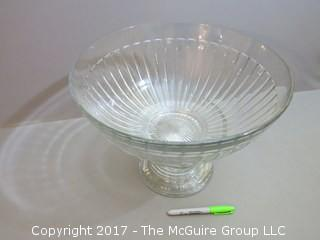 Heisey Punch Bowl with base