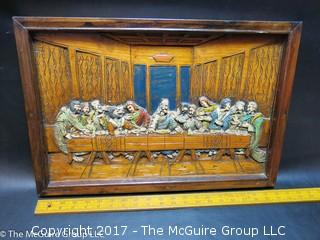 """The Last Supper""; 3-D wood carved"