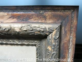 Studio photo in antique wooden art frame