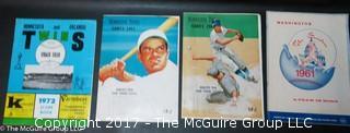 1961 Washington Senators Program and 1962 Minnesota Twins