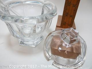 Baccarat cut crystal with spoon