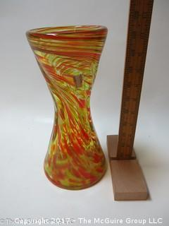M-C Art Glass Vase