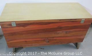 M-C Virginia Maid LANE cedar chest with lower drawer;  39W x 21T x 18D