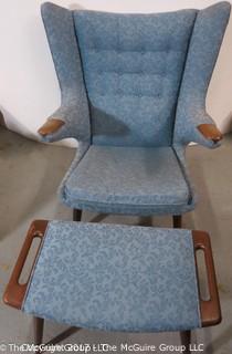 Hans.J Wegner Papa Bear Chair with matching Ottoman (Note: Description Altered 11/7/17 12:40pm ET)