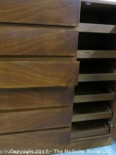 """Danish Wooden Dresser;  45W x 43T x 20 1/2""""D"""