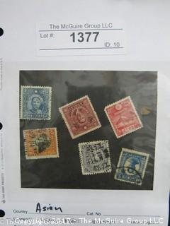 (#1377) Collectible Postage Stamps including world: Asian