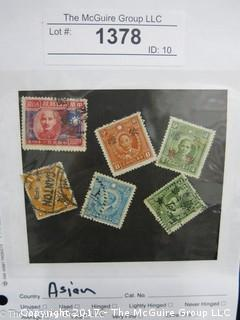 (#1378) Collectible Postage Stamps including world: Asian