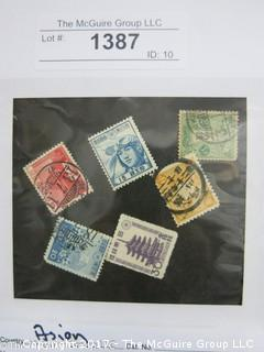 (#1387) Collectible Postage Stamps including world: Asian