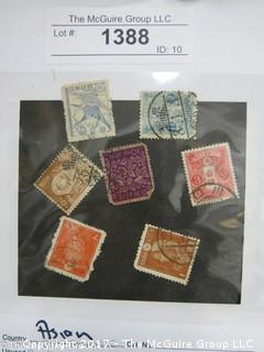 (#1388) Collectible Postage Stamps including world: Asian