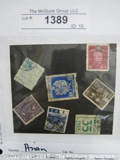 (#1389) Collectible Postage Stamps including world: Asian
