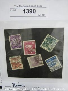 (#1390) Collectible Postage Stamps including world: Asian