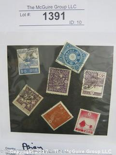 (#1391) Collectible Postage Stamps including world: Asian