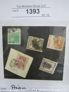 (#1393) Collectible Postage Stamps including world: Asian