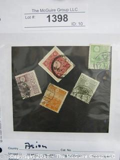 (#398) Collectible Postage Stamps including world: Asian