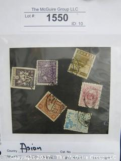 (#1550) Collectible Postage Stamps including world: Asian