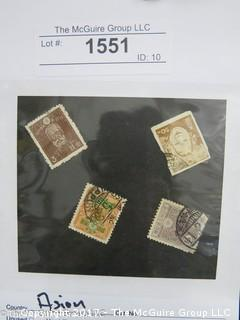 (#1551) Collectible Postage Stamps including world: Asian