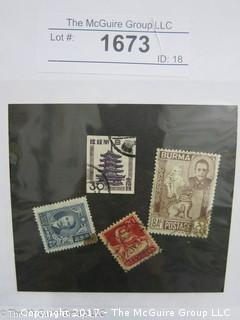 (#1673) Collectible Postage Stamps including Asian