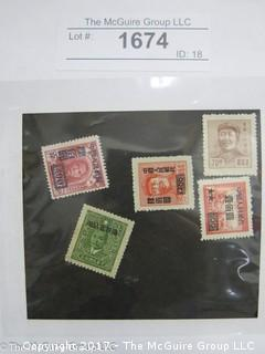 (#1674) Collectible Postage Stamps including Asian