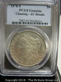 1878 S MORGAN SILVER DOLLAR; PCGS SLABBED UNGRADABLE