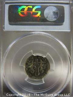 1961 DIME SLABBED AND GRADED PR 67 BY PCGS