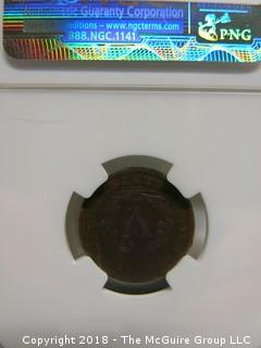 1902 5 CENT COIN; VG DETAILS; ENVIRONMENTAL DAMAGE; SLABBED BY NGC