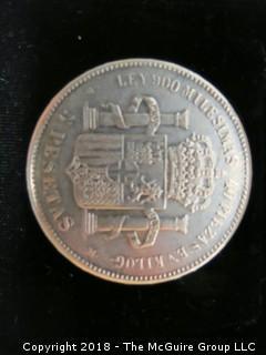 1871 5 PESETAS SILVER COIN