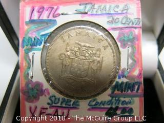 1976 JAMAICA 20 CENT COIN