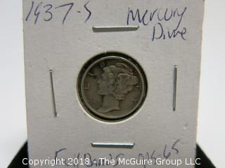 1937 S MERCURY DIME