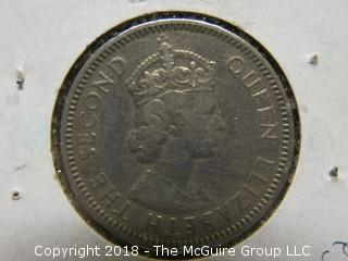 1955 CARIBBEAN GROUP 25 CENT COIN