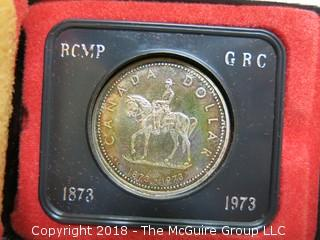CANADIAN RCMP 1873-1973 COMMEMORATIVE COIN