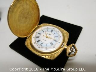 COLIBRI 17 JEWEL GOLD PLATED POCKET WATCH SWISS MADE