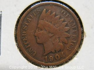 1903, 1904 AND 1907 INDIAN HEAD PENNIES