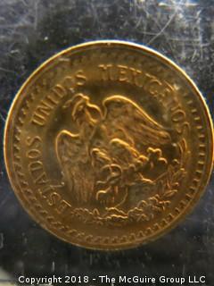 1945 2 1/2 PESO MEXICAN GOLD COIN