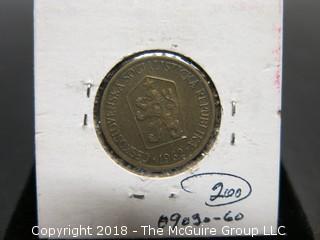 1962 CHECKOSLOVAKIA 1 KCS.COIN